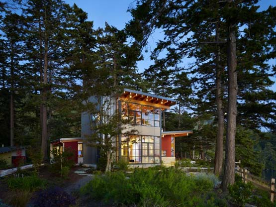 House Forest Design Location In The San Juan Islands
