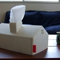 House Tissue Box Cover