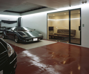 House With a 9 Car Garage by Takuya Tsuchida