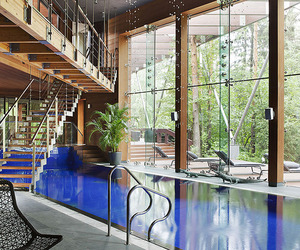 House with Indoor Pool in Russia by Olga Freyman