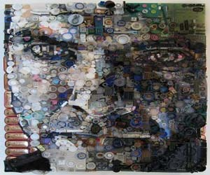Household junk Recycled into Portrait Masterpieces