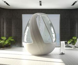 How about taking an Egg Shower? Err...Shower in the egg!