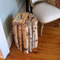 How to build a birch log table