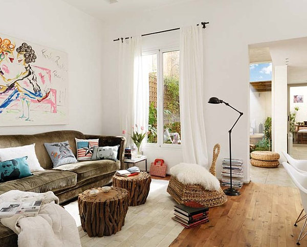 How to decorate a room with white walls - White walls living room ...
