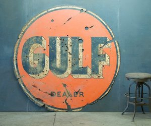 Old Gulf Dealer Gas Station Sign | Dapper Dude