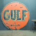 Old Gulf Dealer Gas Station Sign   Dapper Dude