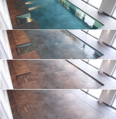 Hydrofloors Vertically Moving Swimming Pool Flooring