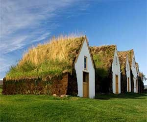 Icelandic Design House with Green Roof