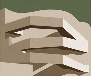 Iconic Architectural Buildings illustrated