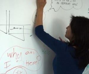 Ideapaint transforms any smooth surface into a dry-erase writing surface.