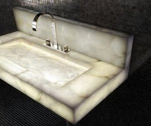 Illuminated Alabaster Furniture For Indoors and Out
