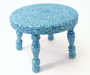 Impressionist stools by Mazzchop Designs