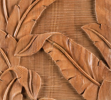 Indah Banana Leaf Teak Tile