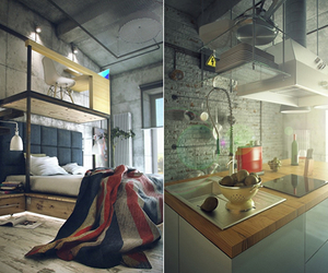 Industrial Bachelor Loft | By Maxim Zhukov