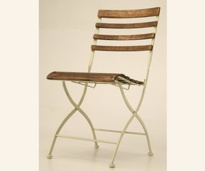 Industrial Country French Style Folding Bistro Chair