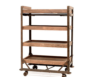 Industrial Factory Cart Shelf