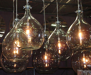 Industrial Glass Bottle Lights