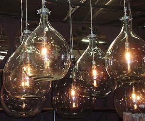 Industrial Glass Bottle Lights