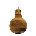Industrial Wood Light Bulb