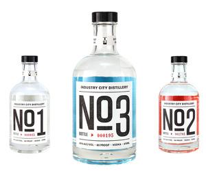 Industry City Distillery's Premium Vodka No 3