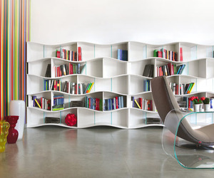 Infinite Wave Effect: Dynamic ONDA Bookcase System