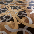 Inlaid Floor with Wood, Stone & Metal