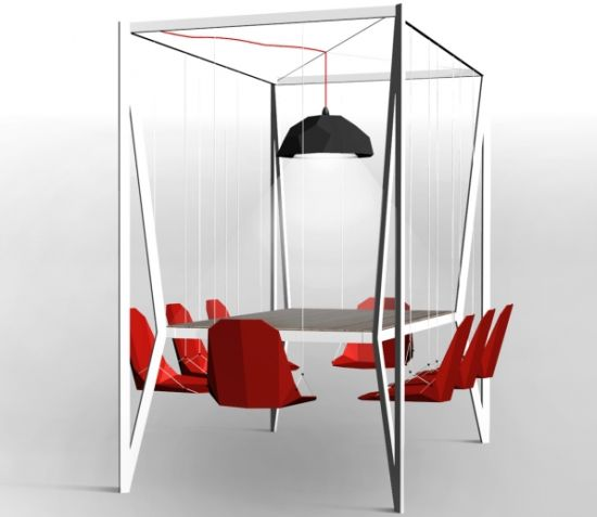 Innovative design dining table swing for Innovative dining table designs