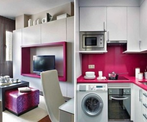 Inside Pink Apartment