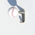 Insilvis BASEBALL, wall mounted coat hook.
