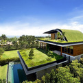 Inspiring Home with One Garden per Level in Singapore