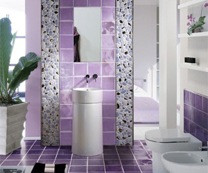 Interior Design with Violet Color