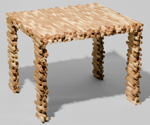 Interlaced Table by Philipp Aduatz