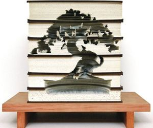 Intricate Book Carvings