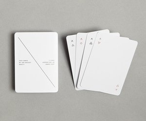 Iota Minimalist Playing Cards by Joe Doucet