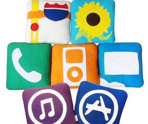 iPillows! iPhone icons as fleece cushions