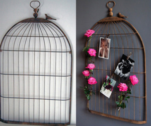Iron Bird Cage Memo Board