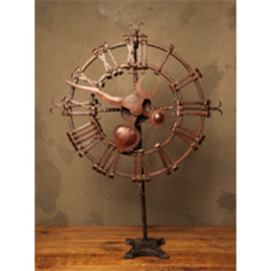 Iron Clock on Stand