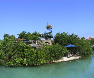 Island Paradise Made Of Recycled Plastic Bottles