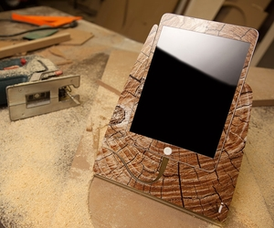 Cracked Wood iPad Mini Stand by Design Skinz