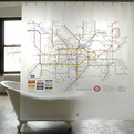 Izola, Map Series Shower Curtains, London Subway
