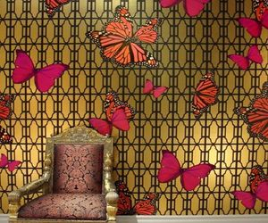 Jamie Adler's Butterflies wall covering for your glam dwell