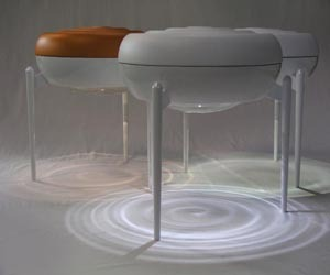 Jellyfish : Stool with LED Lamp and Water Tank