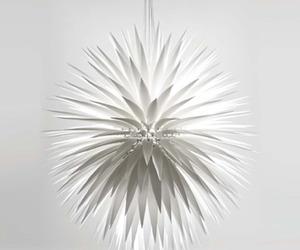Jeremy Cole's White Flax Pendant Lamp
