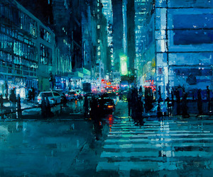 Jeremy Mann's Eery Urban Oil Paintings