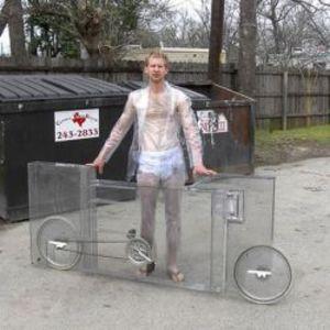 Jimmy Kuehnle's invisible bike