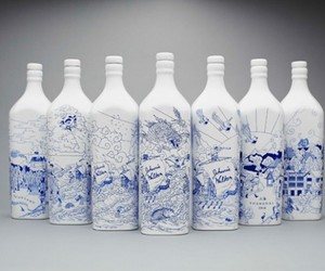 Johnnie Walker's bottles by Chris Marting x Love