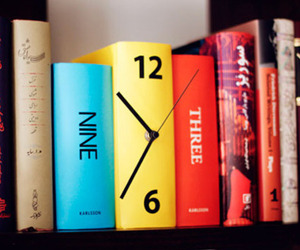 Karlsson Table Clock Book