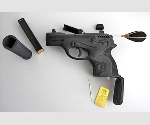 Killer Cosmetics. Gun shaped make-up kits.