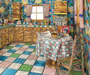 Kitchen Covered in Millions of Glass Beads by Liza Lou