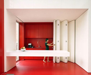 Kitchen With Folding Facade by dmvA Architecten
